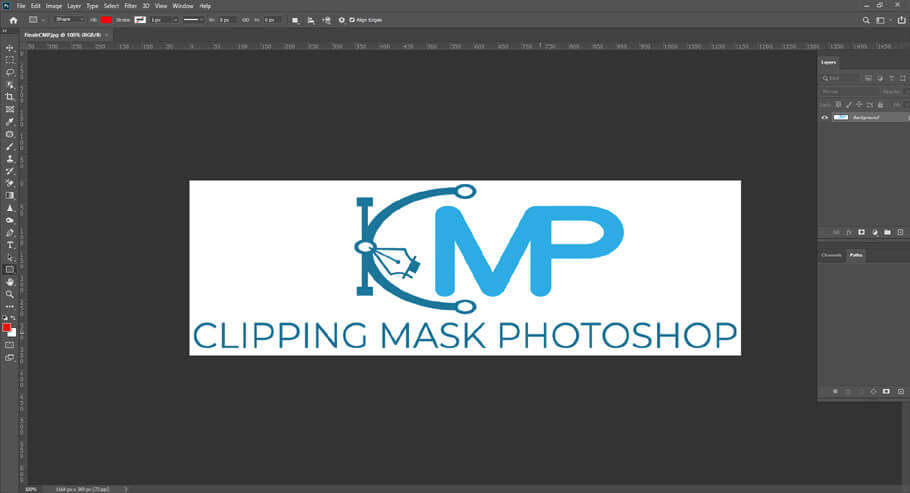 Open your logo file in Photoshop