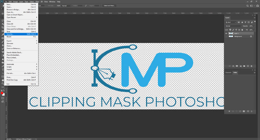 Save your file/Save your image - How to Make a Transparent Background in Photoshop