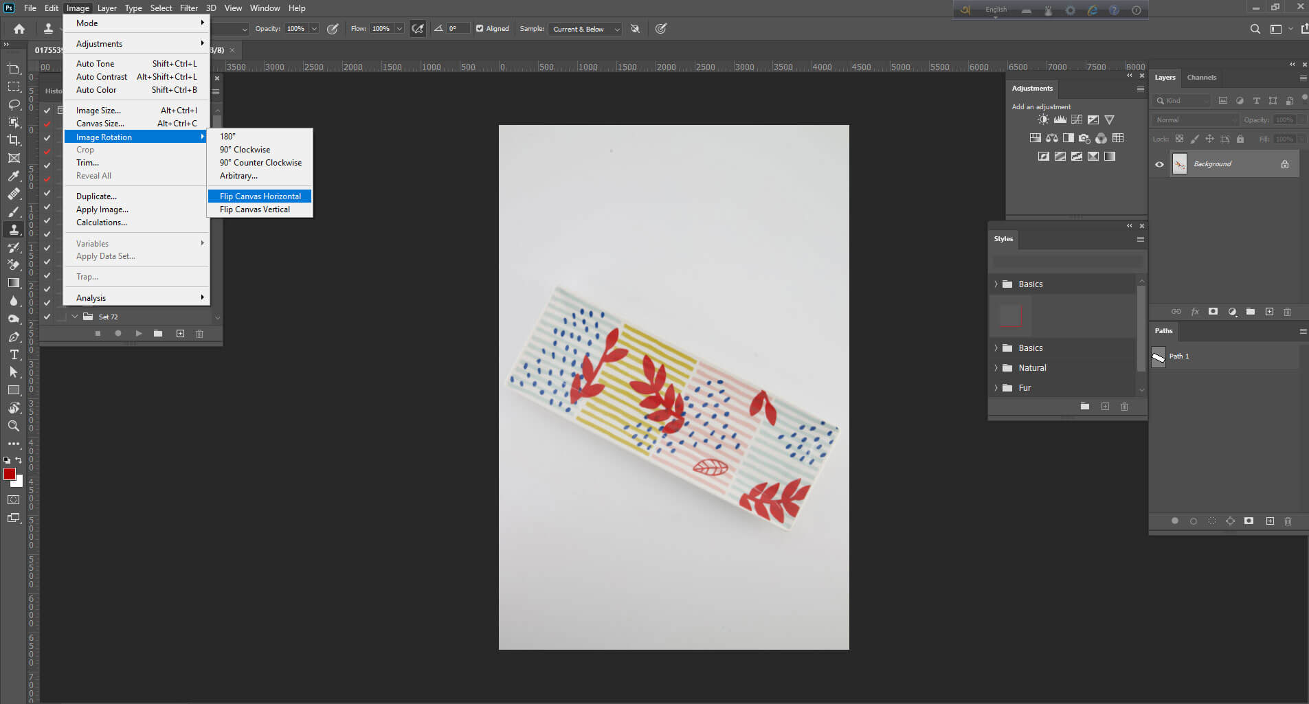 Flipping the whole image/canvas - How to Flip an Image in Photoshop