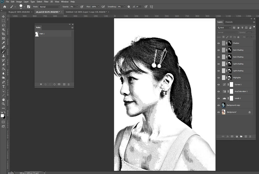 Add a cross-hatching effect to your image