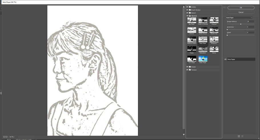 Convert the photo to a line drawing